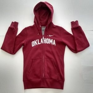 Used Women's Nike Oklahoma Full-Zip Hoodie, OU